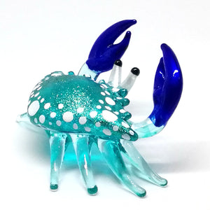 Glass New Small Blue Crab ปู