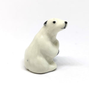 Ceramic Tiny Polar Bear Sitting