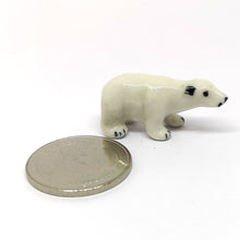 Load image into Gallery viewer, Ceramic Tiny Polar Bear Stand