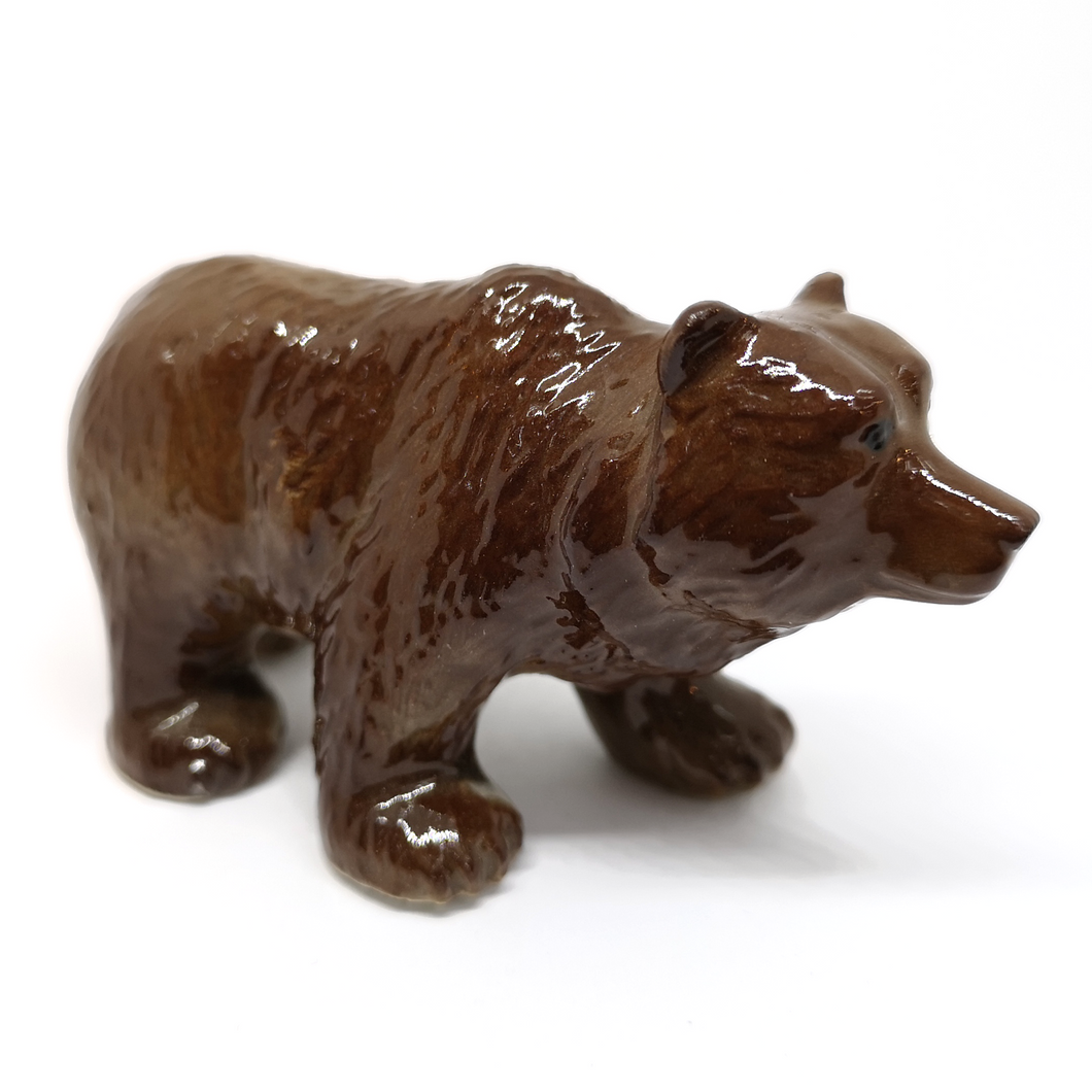 Ceramic Glossy Grizzly Bear