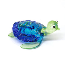 Load image into Gallery viewer, Glass Turtle S, Blue