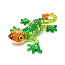 Load image into Gallery viewer, Glass Gecko Green