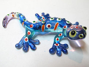 Glass Gecko Blue