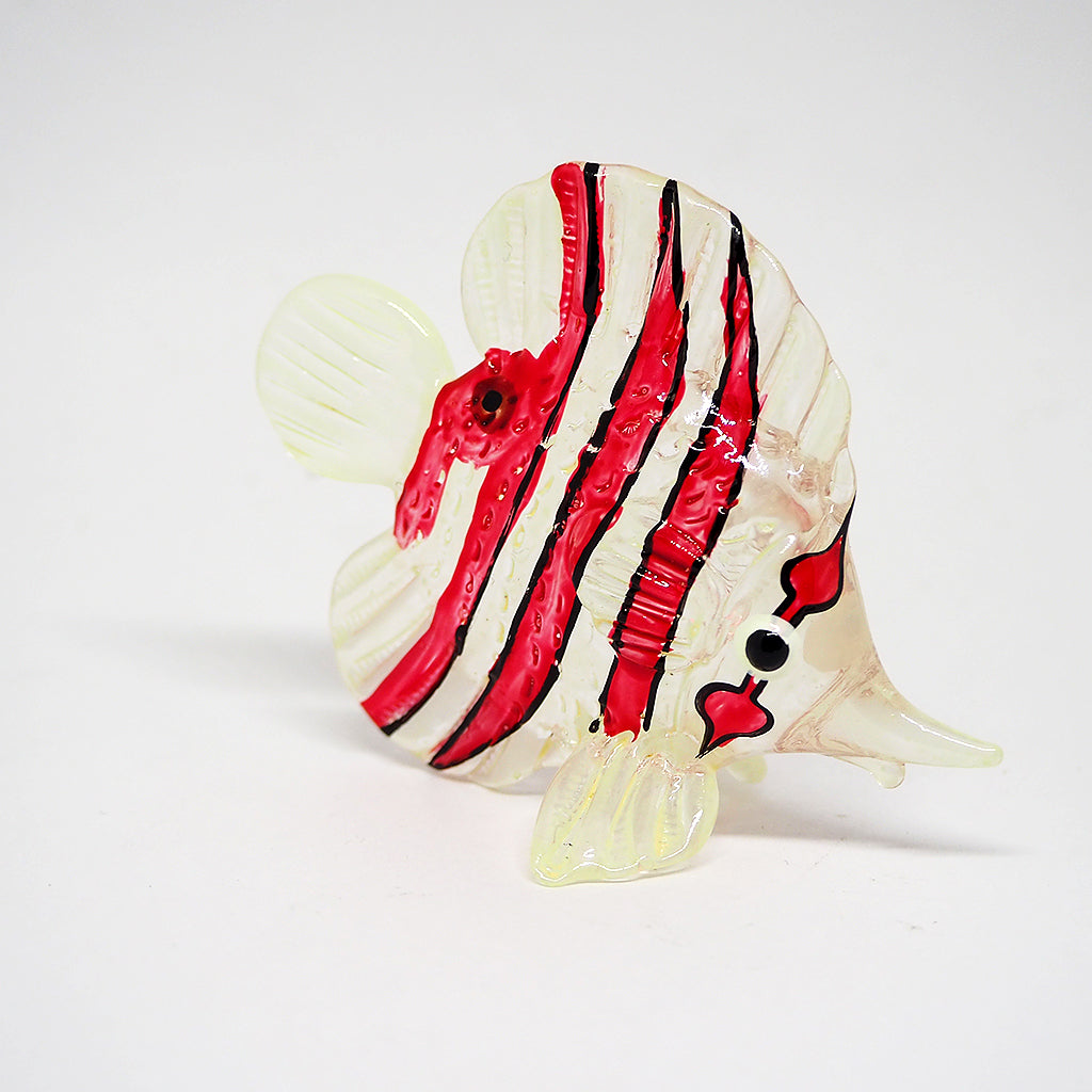 Glass Wh-Red Sea Fish