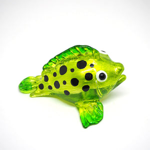 Glass Green Puffer Fish