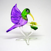 Load image into Gallery viewer, Purple Humming Bird With Flower