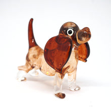 Load image into Gallery viewer, Hand Blown Glass Brown Dog
