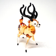 Load image into Gallery viewer, Blown Glass Deer Miniature Art Handmade Animal Farm Lover Collectible Gift Decor