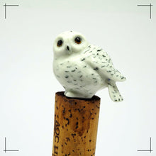 Load image into Gallery viewer, Ceramic Collectible Snowy Owl Statue Dollhouse Miniature Porcelain Bird Figurine