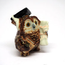 Load image into Gallery viewer, Ceramic Collectible Brown Owl Statue Dollhouse Miniature Porcelain Bird Figurine