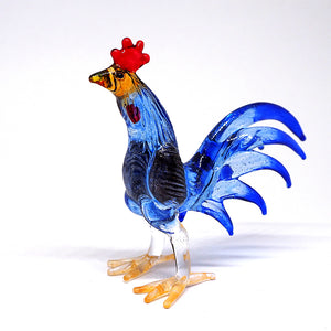 Blue Fighting Rooster Chicken