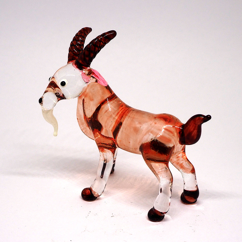 Blown Glass Brown Goat