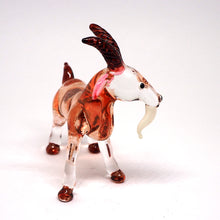 Load image into Gallery viewer, Blown Glass Brown Goat