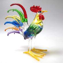 Load image into Gallery viewer, Glass Chicken, Male, Multi colors ไก่