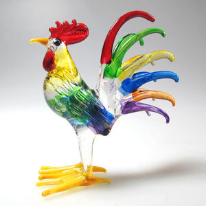 Glass Chicken, Male, Multi colors ไก่