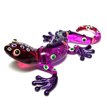 Load image into Gallery viewer, Glass Gecko Purple