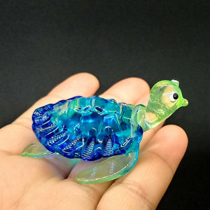 Glass Turtle S, Blue