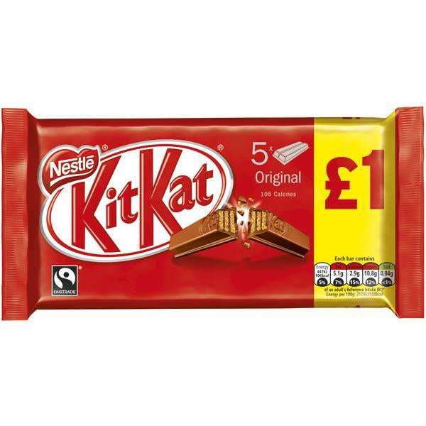 Nestle Kit Kat 5 Pack Pm £1