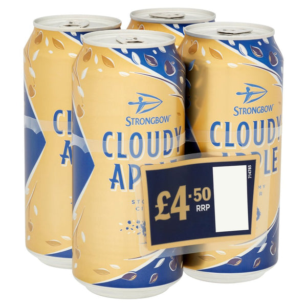 Strongbow Cloudy Apple 4 Pack Can Pm £4.50 440ml