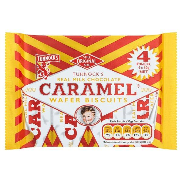 Tunnocks Caramel Wafer 4's