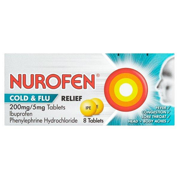 Nurofen Cold&flu Relief Tablets 8's