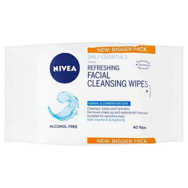 Nivea Visage Wipes Normal/comb 40's