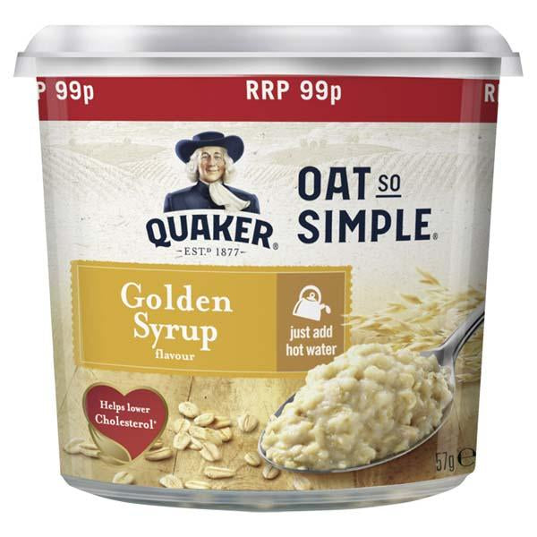 Oat So Simple Express Tray Golden Syrup Pm 99p 50g