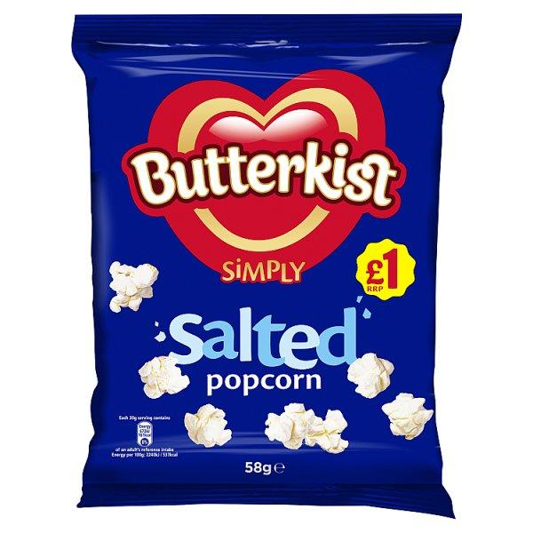 Butterkist Simply Salted Popcorn Pm 1.00 58g