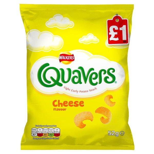 Walkers Quavers Cheese Pm £1.00 52g