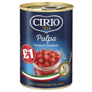 Cirio Chopped Tomatoes Pm1.00 400g