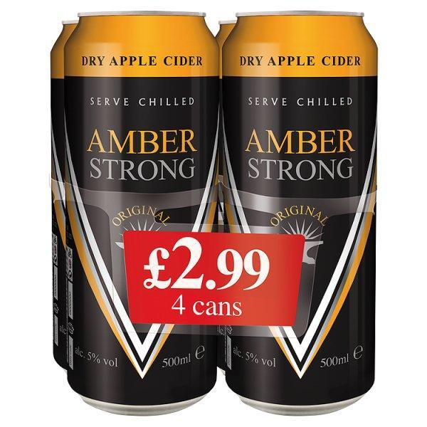 Amber Strong 4 Pack Can Pm £2.99 500ml