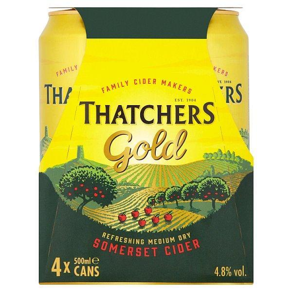 Thatchers Gold Cider Can 4 Pack Pm £4.99 500ml