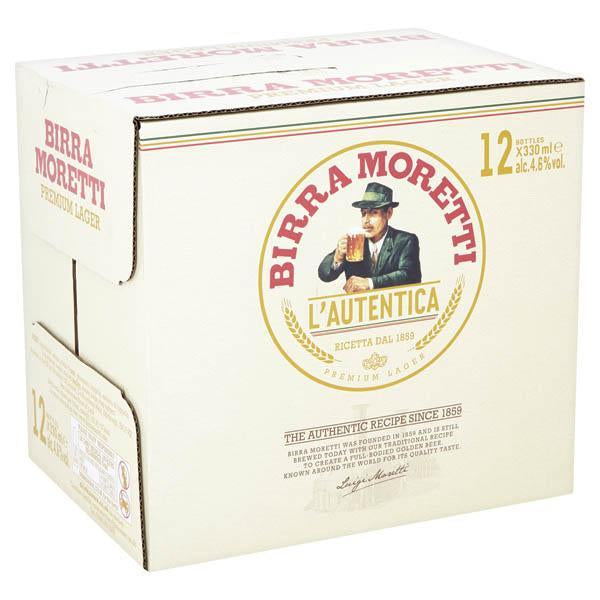 Birra Moretti 12 Pack Bottle 330ml