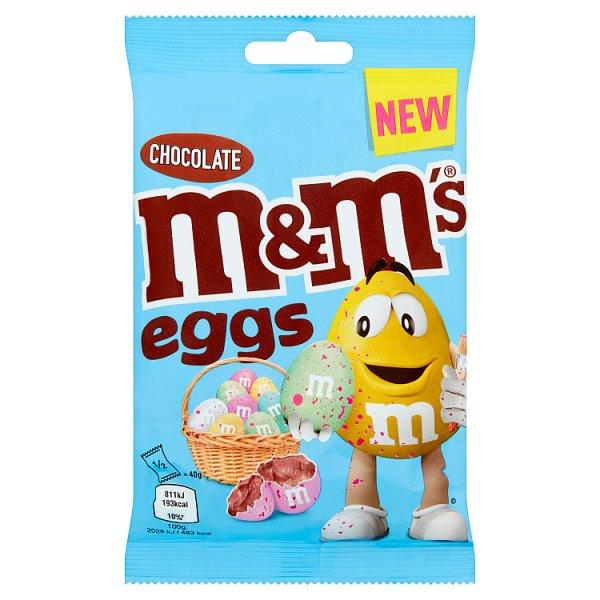 M&m Eggs Sharing Bag 80gm