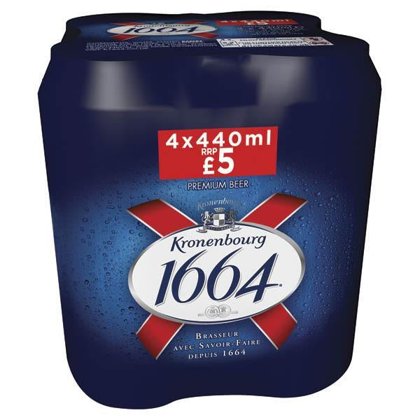 Kronenbourg 4 Pack Can Pm £5 440ml