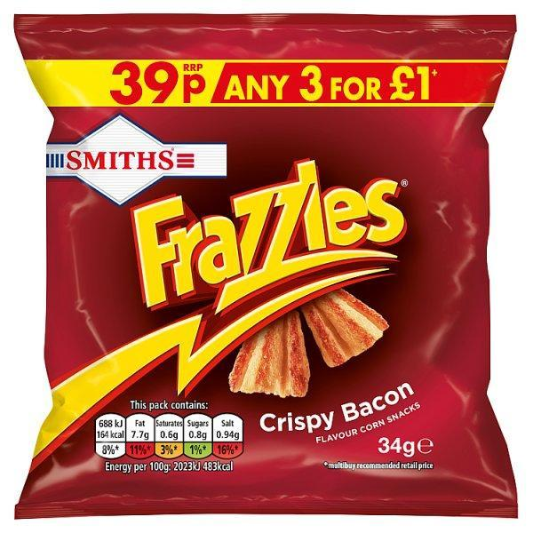 Frazzles Bacon Crisp Pm 39p 34g