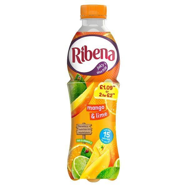 Ribena Mango & Lime Pm £1.09 Or 2 For £2 500ml