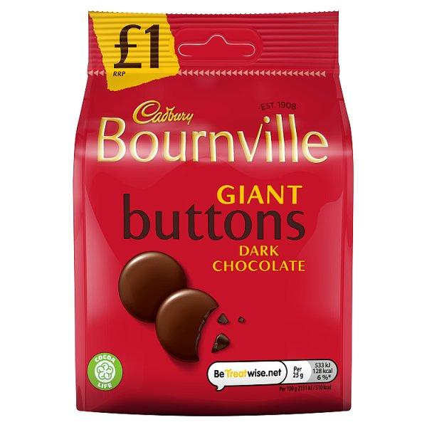 Cadburys Bournville Buttons Pm £1 95g