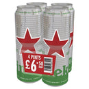 Heineken 4 Pack Pint Can Pm £6.50 568ml