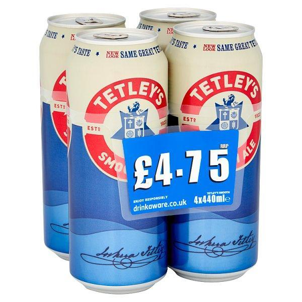 Tetley Smooth 4 Pack Can Pm £4.75 440ml