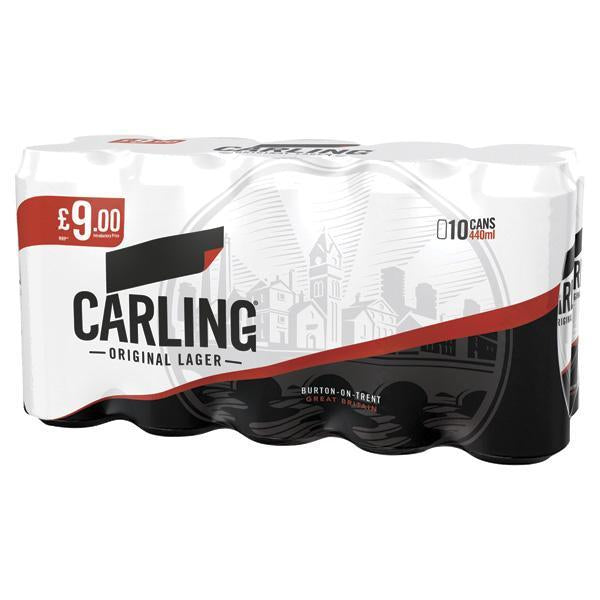 Carling 10 Pack Can Twin Pm £9 440ml
