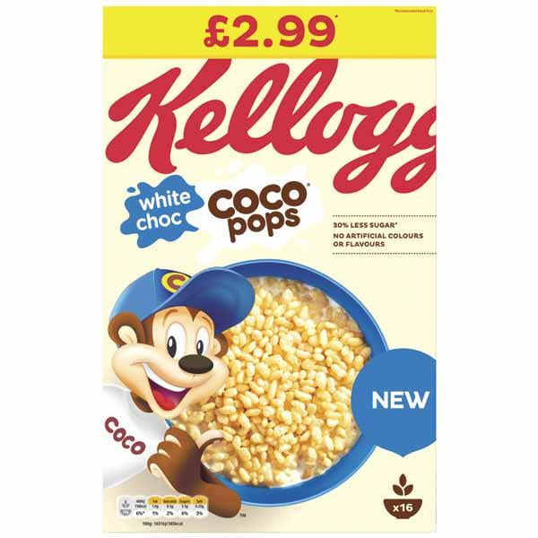 Kelloggs Coco Pops White Chocolate Pm2.99 480g