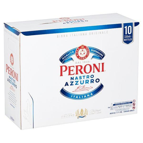 Peroni Nastro Azzurro 10 Pack Bottle 330ml
