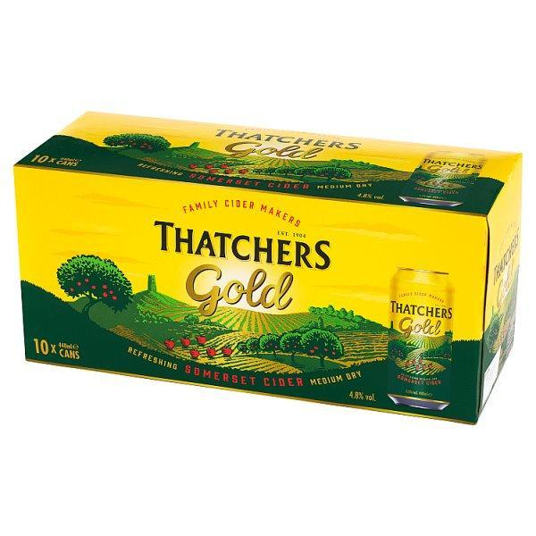 Thatchers Gold Cider 10 Pack Can 440ml