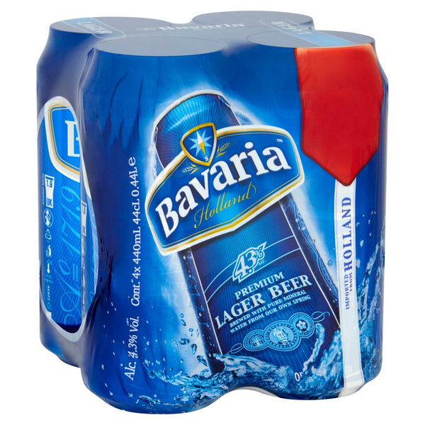 Bavaria Premium Lager 4 Pack Can Pm £4 440ml