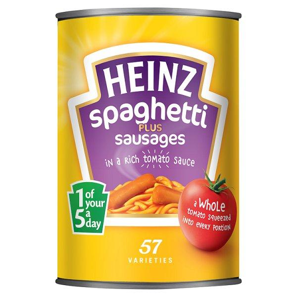 Heinz Spaghetti With Sausages 400g