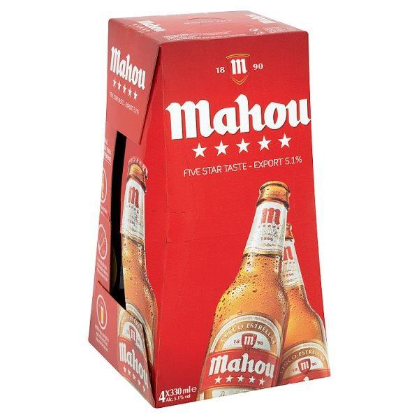 Mahou 5.1% 4 Pack Bottle 330ml