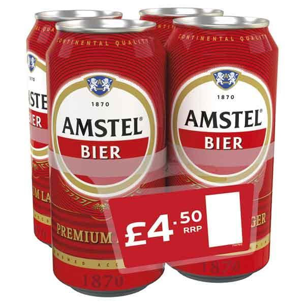 Amstel 4 Pack Can Pm £4.50 440ml