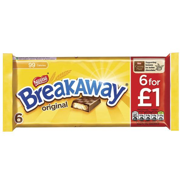 Nestle Breakaway 6 Pack Pm £1