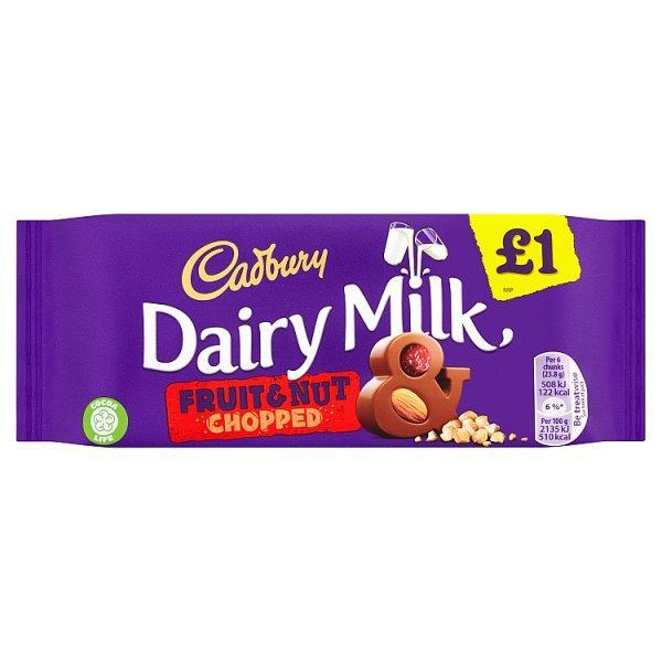 Cadburys Dairy Milk Fruit & Nut Pm £1 95g